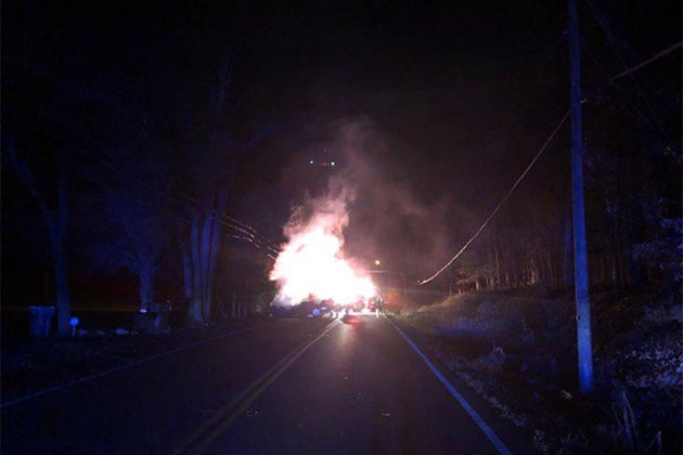 Fiery Crash But No Injuries on Georgetown Pike | Tysons Reporter
