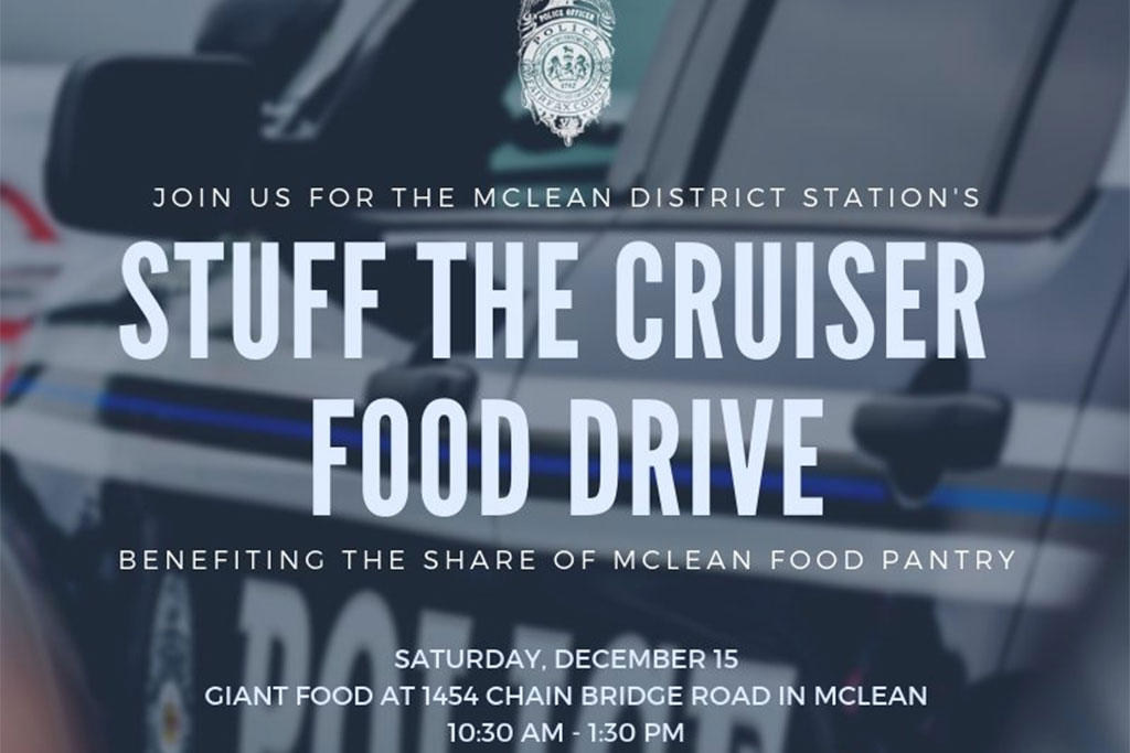 Fill A Police Cruiser With Canned Goods In Mclean Tysons