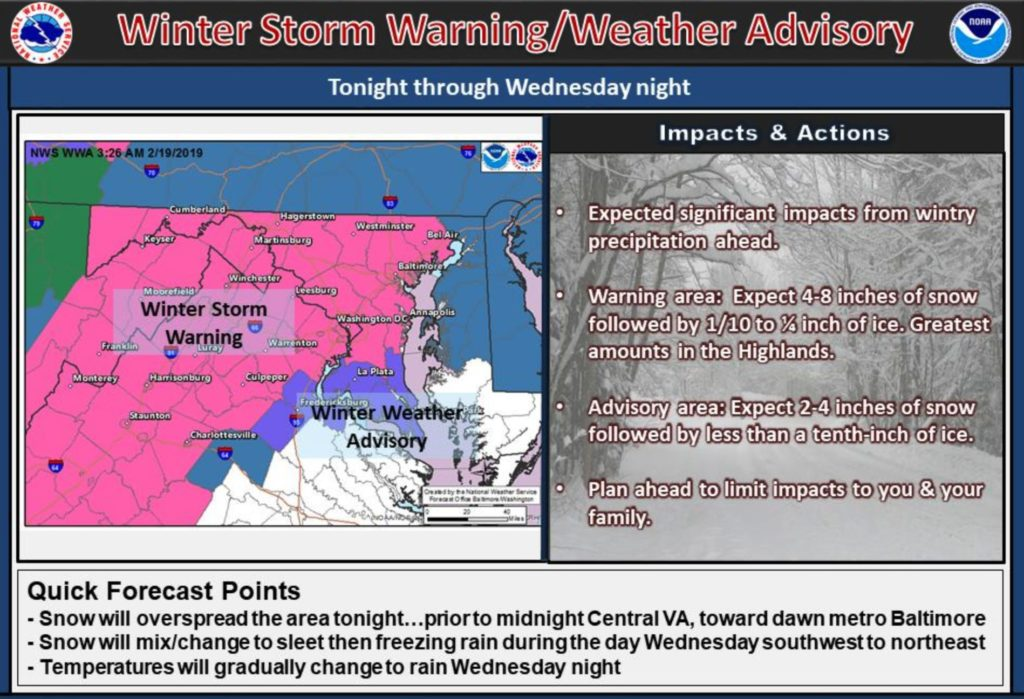 UPDATED: School Cancelled Wednesday As Winter Storm Barrels