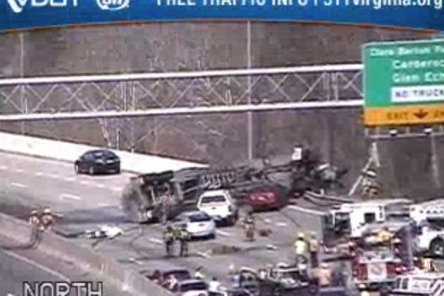 BREAKING: Inner Loop Closed Due to Tanker Truck Crash